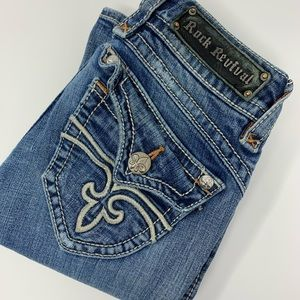 Rock Revival Stephanie Boot Distressed Jeans